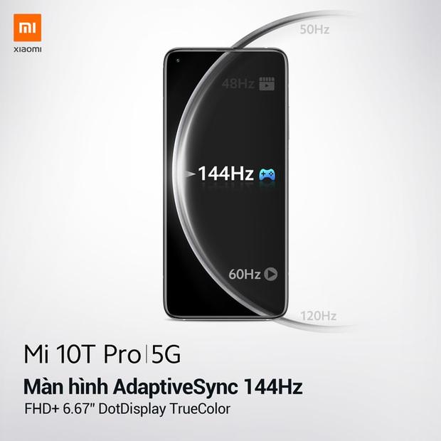 Xiaomi Mi 10T Pro ra mắt: Màn hình 144Hz, camera 108MP, Snapdragon 865, giá từ 11,9 triệu đồng - Ảnh 3.