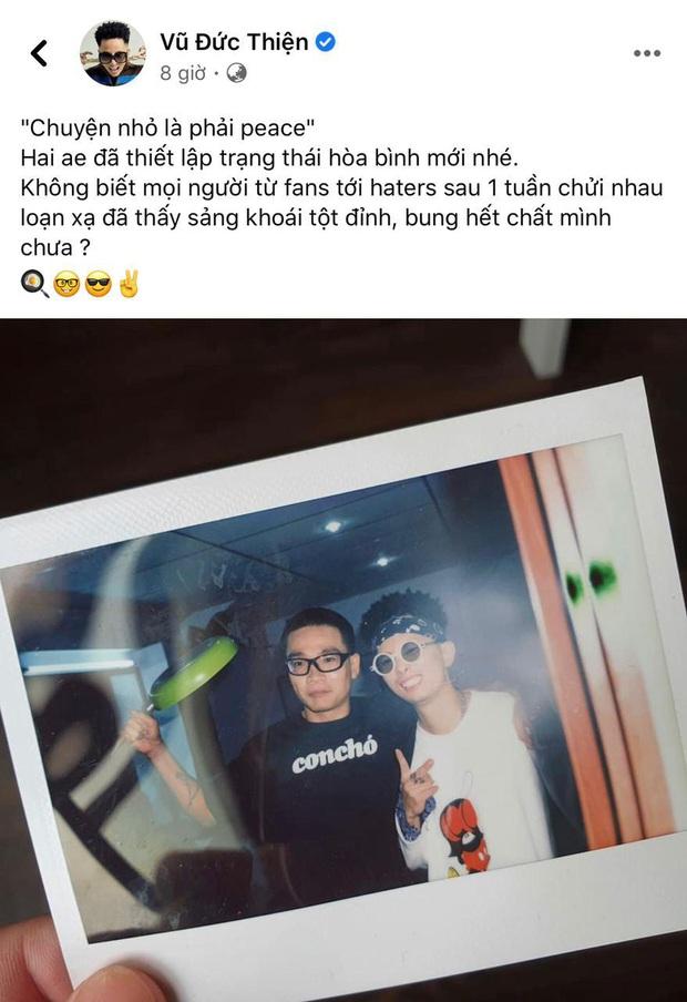 Rhymastic đăng hình thiết lập trạng thái hòa bình mới với Wowy sau gần 1 tuần căng thẳng vì drama Rap Việt - Ảnh 3.