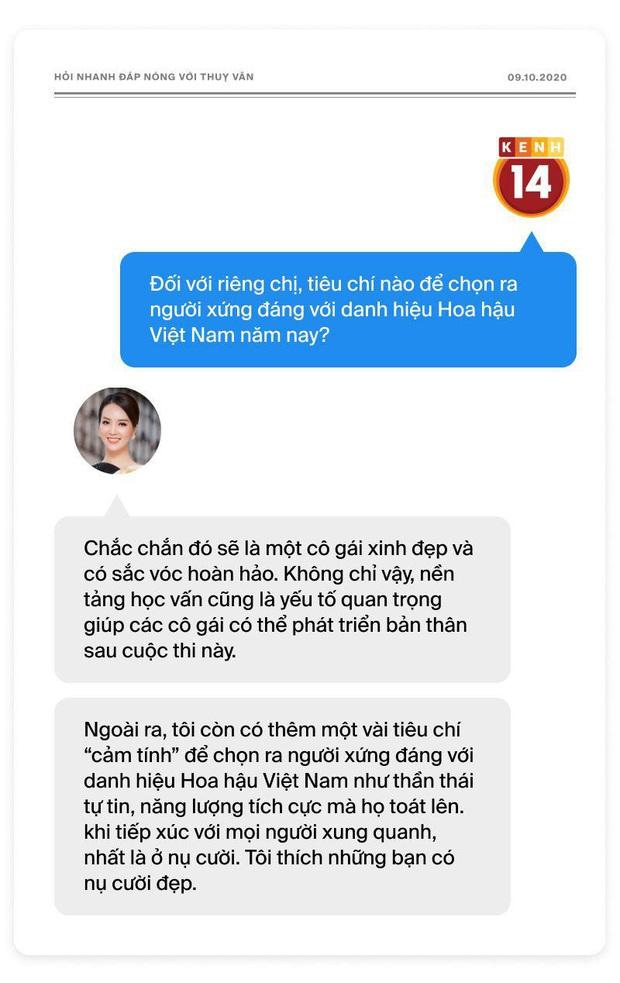 Phỏng vấn nóng Thuỵ Vân trước Bán kết HHVN: Hé lộ lý do 10 năm giữ kín diện mạo ông xã, khẳng định Hoa hậu không phải một nghề - Ảnh 4.