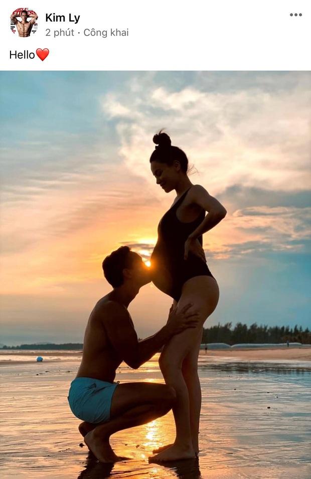 Kim Lý lần đầu khoe khoảnh khắc cực tình bên bụng bầu của Hà Hồ, nhìn nụ hôn mà hạnh phúc lây! - Ảnh 2.