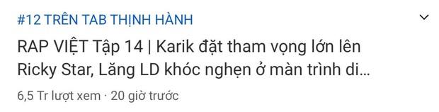 Rap Việt bất ngờ bị King Of Rap vượt mặt trên top trending YouTube dù có lượt view áp đảo - Ảnh 3.