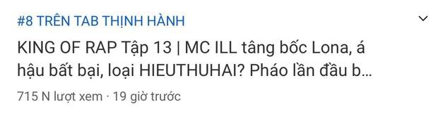 Rap Việt bất ngờ bị King Of Rap vượt mặt trên top trending YouTube dù có lượt view áp đảo - Ảnh 4.
