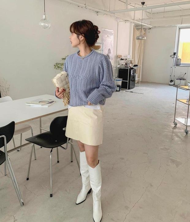 Mặc chân váy mùa đông cũng không sợ lạnh nhờ các tips dưới đây - Ảnh 3.