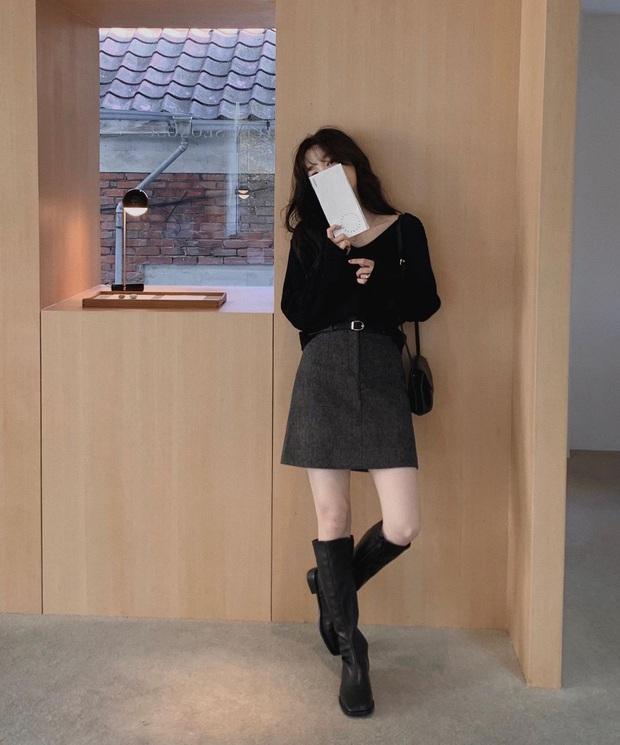 Mặc chân váy mùa đông cũng không sợ lạnh nhờ các tips dưới đây - Ảnh 1.