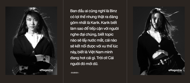 Suboi khẳng định: Ban đầu ai cũng nghĩ Binz có lợi thế tại Rap Việt nhưng thật ra đáng gờm nhất là Karik - Ảnh 3.