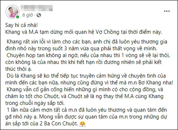 Người đàn ông Việt Nam đầu tiên sinh con cho biết đã chia tay vợ khiến nhiều người tiếc nuối - Ảnh 1.