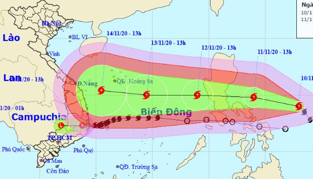 Bão Vamco sắp vào Biển Đông, giật tới cấp 15 hướng vào miền Trung - Ảnh 1.