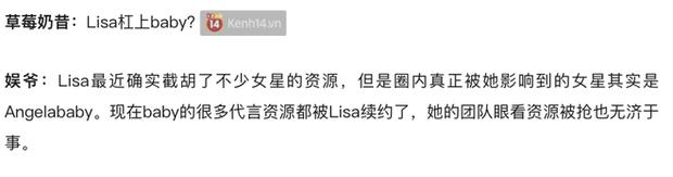 Tin đồn hot nhất Weibo: Angela Baby bất lực, trơ mắt nhìn Lisa (BLACKPINK) nẫng tay trên loạt hợp đồng quảng cáo? - Ảnh 3.