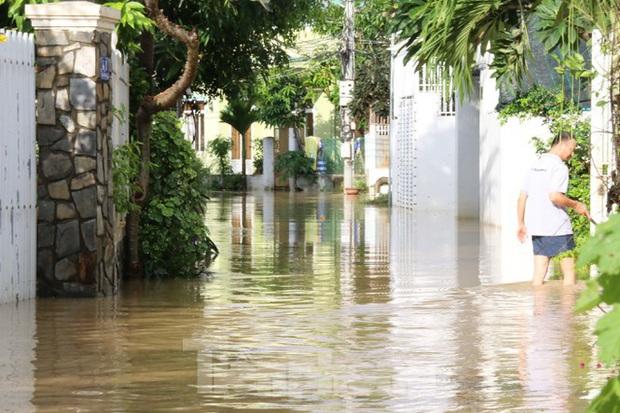 Bão tan nhưng dân phố biển Nha Trang vẫn bì bõm nơi nước ngập - Ảnh 5.