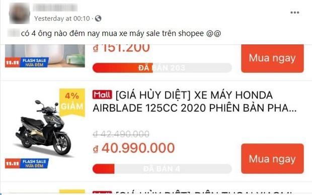 Chuyện kỳ thú ngày siêu sale 11/11: Có đến 4 người lên Shopee mua hẳn xe máy 40 triệu - Ảnh 1.