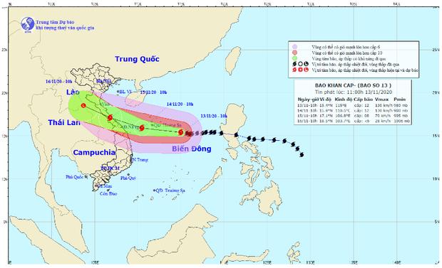 Bão số 13 giật cấp 15 chuẩn bị đổ bộ, từ Hà Tĩnh đến Quảng Nam mưa rất to từ ngày mai - Ảnh 1.