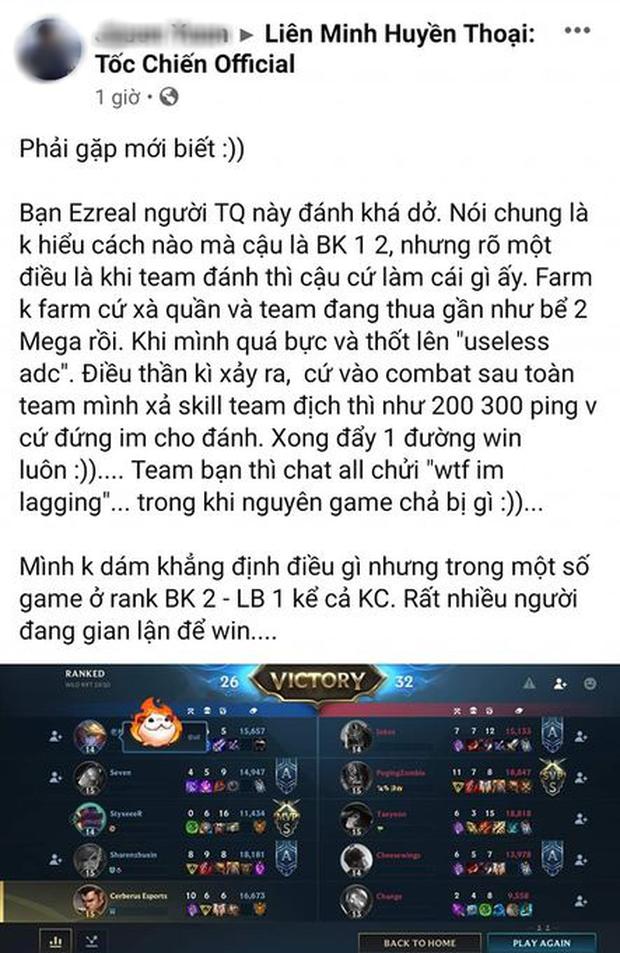 Game thủ Việt đặt nghi vấn Tốc Chiến đã có hack lag cực khủng, cả team địch bất động rồi thua luôn! - Ảnh 2.