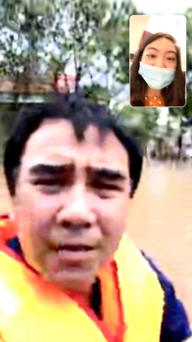 MC Quyền Linh đi cứu trợ miền Trung, con gái được chấm 10 điểm khi gửi lời nhắn lầy lội - Ảnh 1.