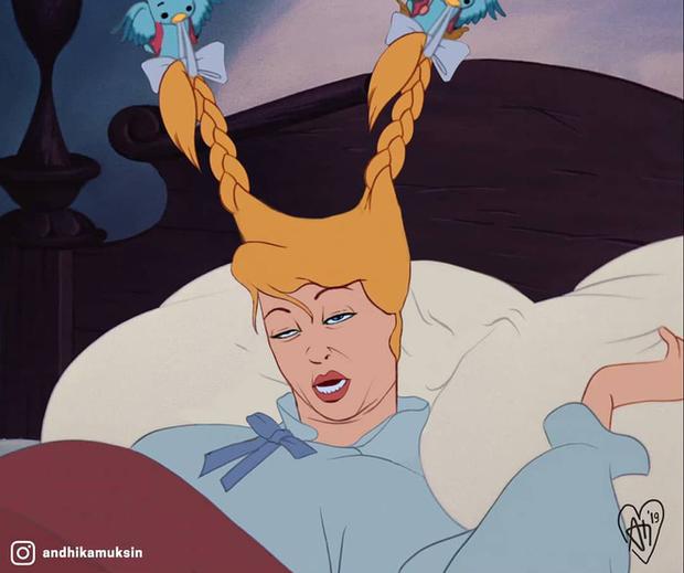 Một cơn mưa đi qua để lại dàn công chúa Disney trôi sạch bách lớp trang điểm, cười muốn nội thương với mặt mộc của Lọ Lem! - Ảnh 6.