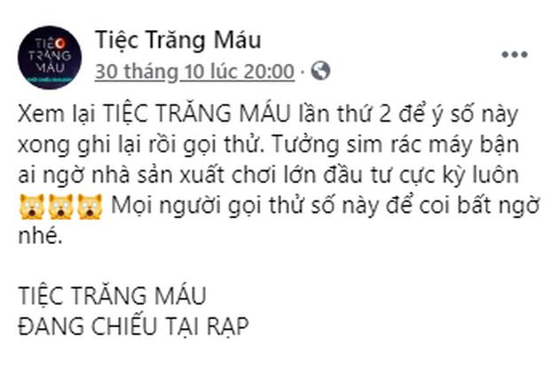 Fan Việt tò mò số điện thoại ở Tiệc Trăng Máu bèn gọi cháy máy liền nhận cái kết hú hồn - Ảnh 2.