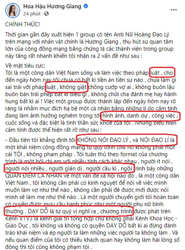 Ơn giời, Hương Giang không sai chính tả nữa rồi! - Ảnh 2.