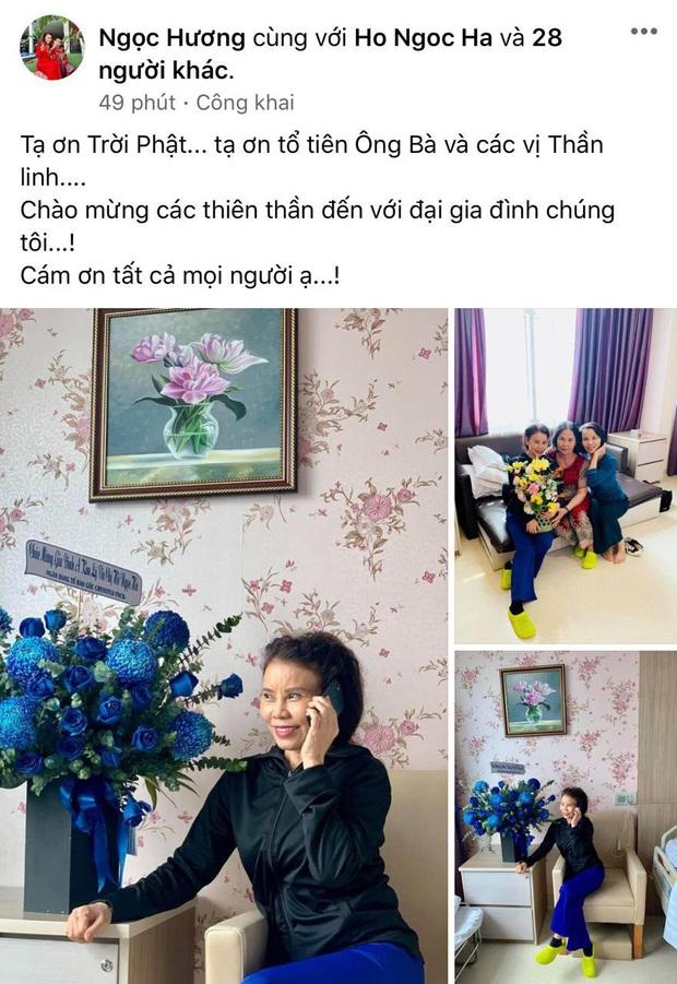Hà Hồ sinh đôi trai gái, mẹ ruột túc trực bên giường, hội bạn thân Lý Quí Khánh đến bệnh viện chúc mừng - Ảnh 3.