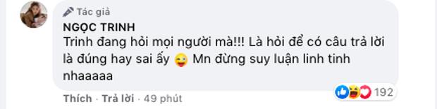 """Ngọc Trinh bị netizen """"tấn công"""" sau status ngầm bênh vực Hương Giang, đến mức phải lên tiếng giải thích ngay và luôn! - Ảnh 3."""