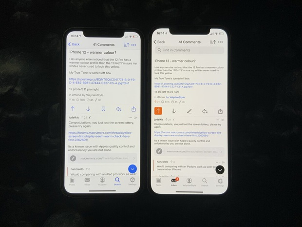 iPhone 12 và iPhone 12 Pro bị nhiều người dùng phàn nàn vì màn hình ám vàng - Ảnh 4.