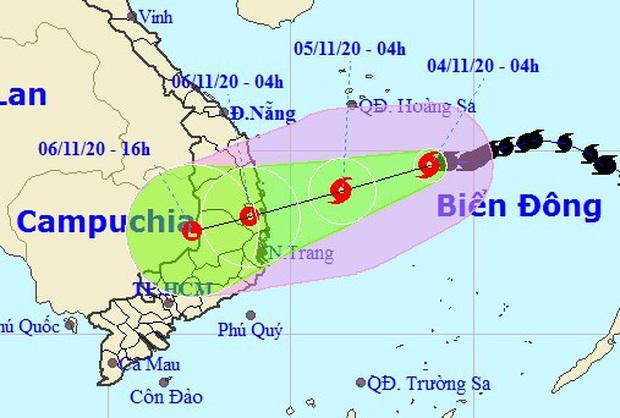 Bão số 10 sẽ suy yếu thành áp thấp nhiệt đới trước khi đổ bộ Quảng Ngãi - Khánh Hòa, miền Trung mưa lớn từ đêm nay - Ảnh 1.