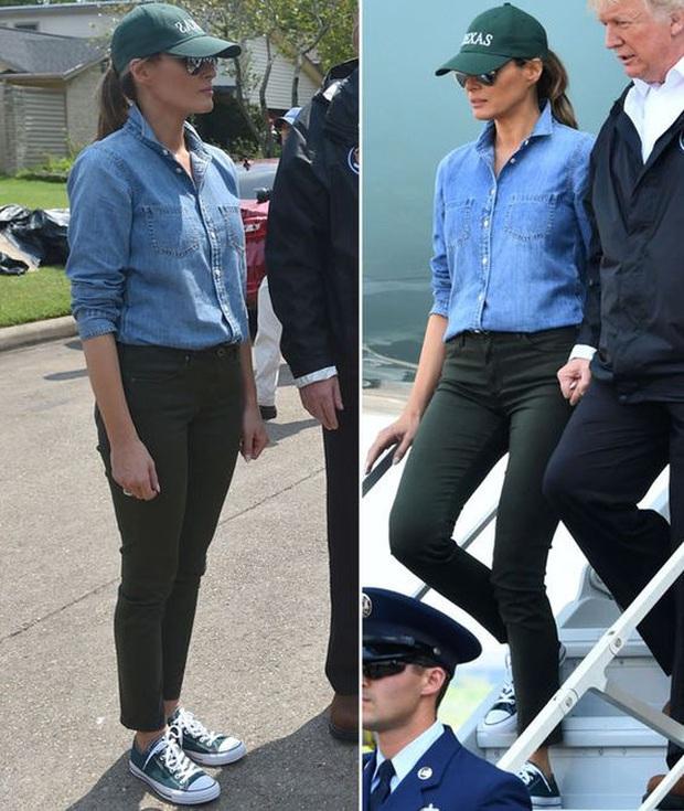 Suốt 4 năm chồng đắc cử Tổng thống Mỹ, cũng có vài lần bà Melania Trump diện đồ bình dân, nhưng bão tố vẫn cứ ập đến bất kỳ lúc nào - Ảnh 4.