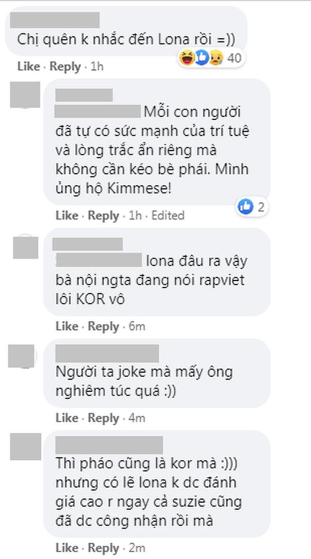Kimmese đăng đàn ủng hộ Suboi và thế hệ rapper nữ triển vọng, netizen bình luận: Chị quên không nhắc đến Lona rồi! - Ảnh 5.