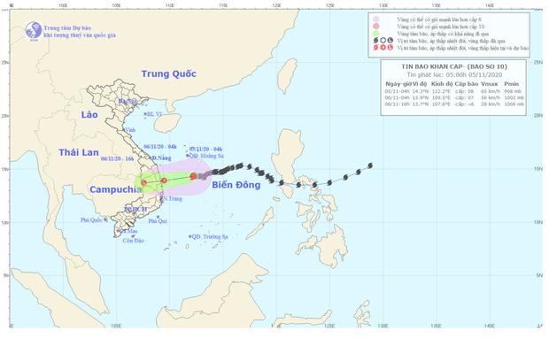 Bão số 10 suy yếu thành áp thấp nhiệt đới, miền Trung mưa rất to - Ảnh 1.