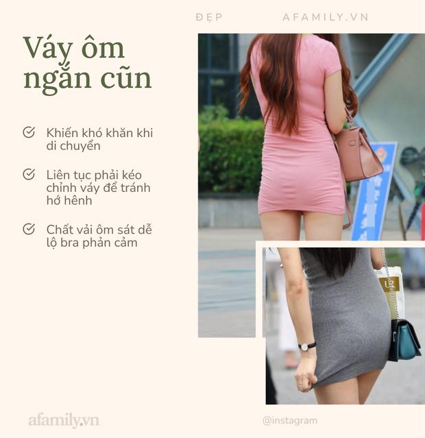 6 kiểu váy áo dễ hớ hênh, phản cảm khiến điểm duyên dáng của các chị em tụt dốc thảm hại - Ảnh 1.