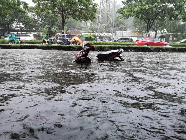 Nhiều tuyến phố ở Quảng Ngãi, Vũng Tàu ngập sâu, xe chết máy la liệt sau mưa lớn do ảnh hưởng bão số 10 - Ảnh 5.