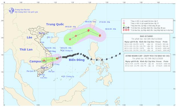 Bão số 10 vừa qua, tiếp tục xuất hiện bão Atsani giật cấp 12 gần biển Đông - Ảnh 1.
