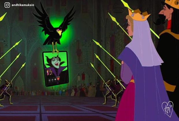 Bộ ảnh các nhân vật Disney thời 4.0 gây sốt mạng xã hội - Ảnh 1.