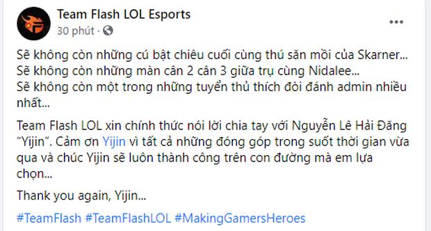 Fan chán nản vì Team Flash chia tay tới 5 thành viên chỉ trong 1 tháng, lần này là Yijin - Ảnh 1.