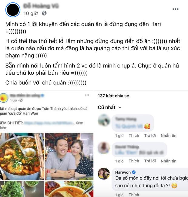 Vụ Hari Won tố fanpage ăn uống: gỡ hình nhưng vẫn chưa được buông tha, quản lý của Hari cũng lên tiếng đính chính - Ảnh 4.