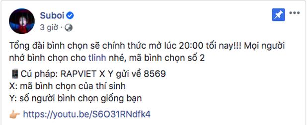 Binz kêu gọi vote khắp MXH, Suboi và Karik sốt sắng nhưng không bằng Rhymastic khoe nhắn tin bình chọn cho cả 8 thí sinh! - Ảnh 12.