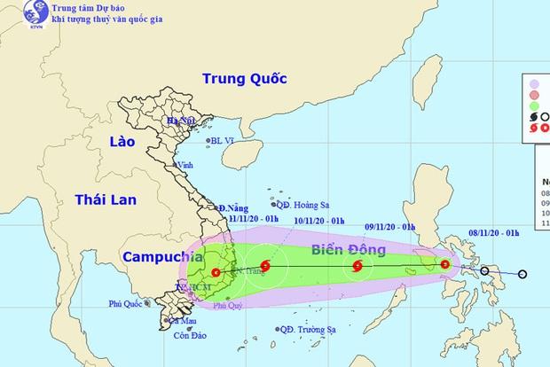Bão số 11 vừa tan, áp thấp nhiệt đới mới vào Biển Đông và trở thành bão số 12 hướng thẳng miền Trung - Ảnh 1.
