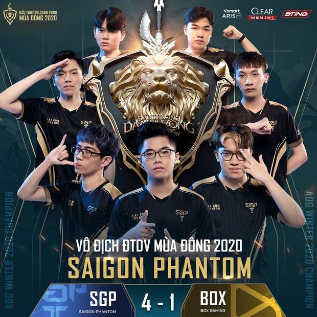 Saigon Phantom đè bẹp BOX Gaming, Bóng ma Sài thành chính thức trở thành tân vương của Đấu Trường Danh Vọng - Ảnh 6.