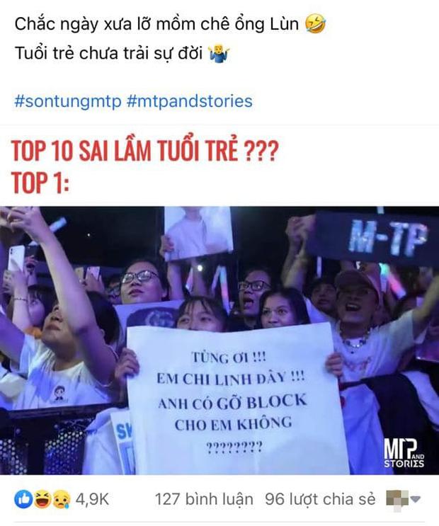 Bức ảnh gây bão: Sky cầm poster đến tận concert yêu cầu Sơn Tùng M-TP gỡ block Facebook mình vì trót dại chê idol lùn? - Ảnh 1.