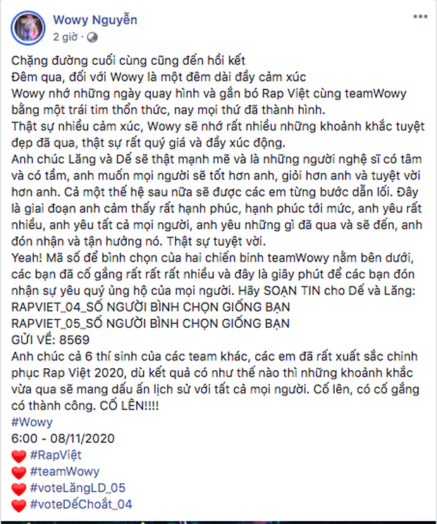 Binz kêu gọi vote khắp MXH, Suboi và Karik sốt sắng nhưng không bằng Rhymastic khoe nhắn tin bình chọn cho cả 8 thí sinh! - Ảnh 10.