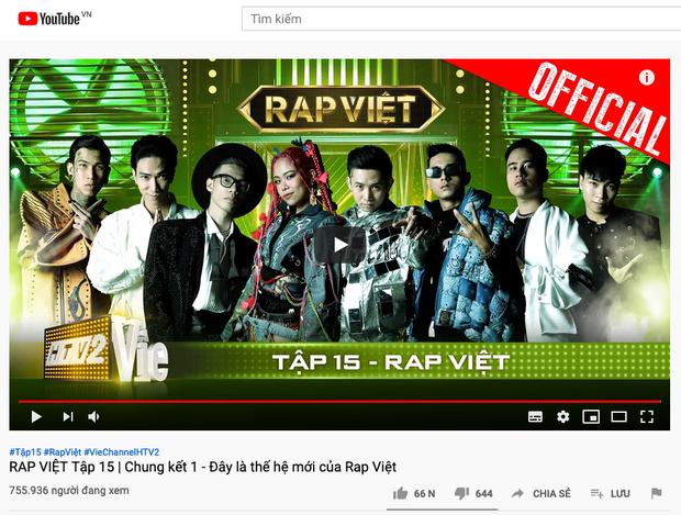 Chung kết 1 Rap Việt dẫn đầu top trending chỉ sau 5 tiếng, bạn vote cho thí sinh nào? - Ảnh 1.