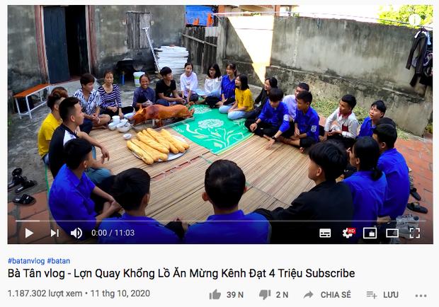 Kênh Bà Tân Vlog tuột dốc không phanh 1 tháng sau scandal của con trai, lượng view chỉ bằng 1/10 trước đây - Ảnh 1.