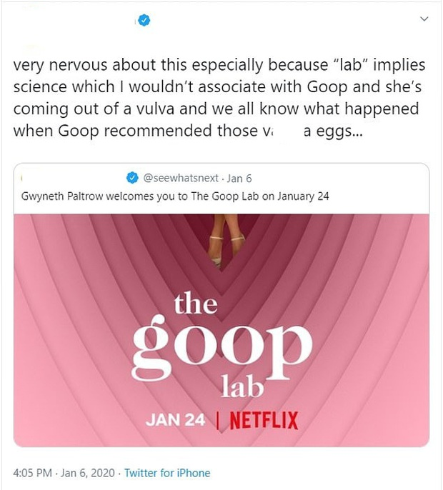 Phim tài liệu The Goop Lab của bạn gái Iron Man bị ném đá tơi bời: Sự sỉ nhục đối với các nghiên cứu khoa học chân chính - Ảnh 10.
