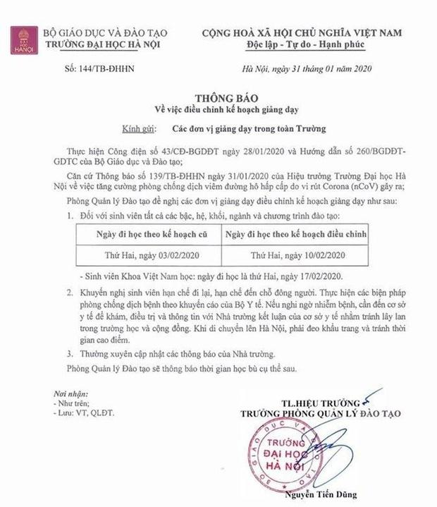 Trường ĐH ở Hà Nội với gần 500 sinh viên Trung Quốc có ai đến từ tâm dịch virus corona Vũ Hán không? - Ảnh 1.