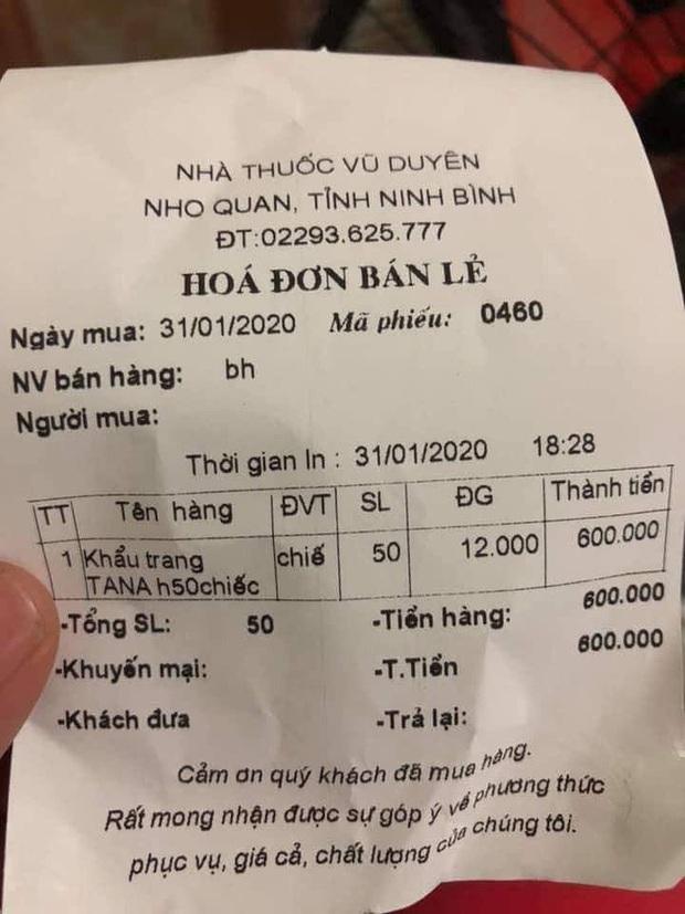 Ninh Bình: Xử phạt cửa hàng đội giá khẩu trang lên 600 nghìn/hộp - Ảnh 1.