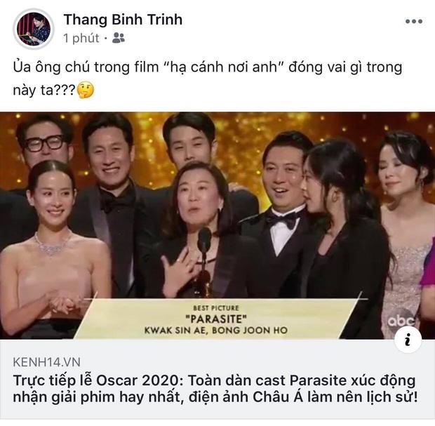 Hà Tăng, Park Seo Joon và dàn sao Hàn - Việt vỡ oà khi phim Ký sinh trùng làm nên lịch sử tại Oscar: Đỉnh cao, quá xứng đáng! - Ảnh 4.