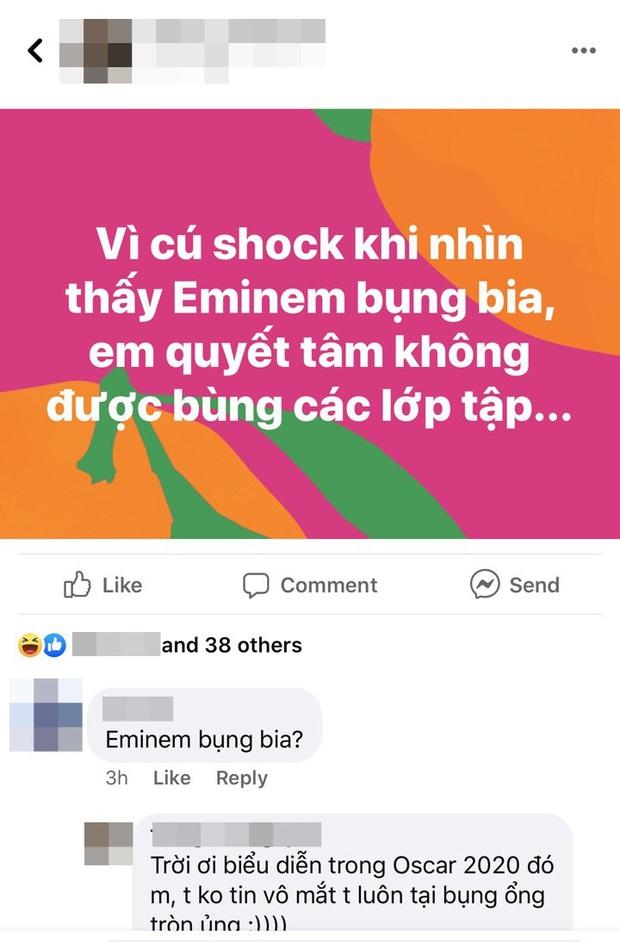 Lỡ hẹn tận... 18 năm, cuối cùng Eminem cũng trình diễn Lose Yourself tại Oscar nhưng chiếc bụng bia so cute lại chiếm hết spotlight - Ảnh 4.