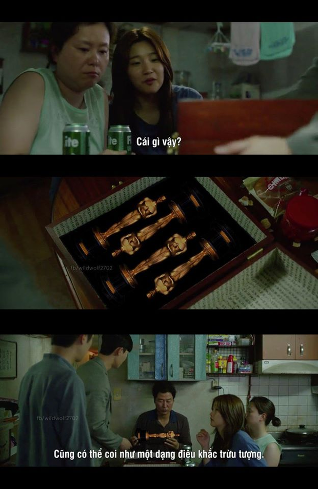 Fan Parasite chơi khéo tay nhà làm bằng loạt ảnh meme cười rụng nụ thể hiện niềm vui lịch sử ở Oscar - Ảnh 2.