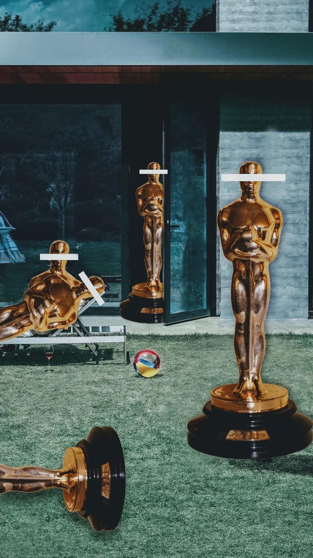Fan Parasite chơi khéo tay nhà làm bằng loạt ảnh meme cười rụng nụ thể hiện niềm vui lịch sử ở Oscar - Ảnh 9.