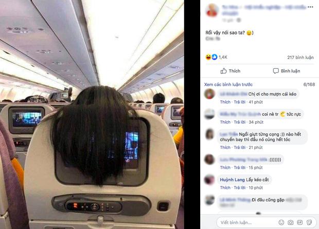 """Nhức mắt với hành động xấu xí của nữ hành khách trên máy bay, dân mạng mách cách giải quyết cực """"gắt"""" - Ảnh 2."""