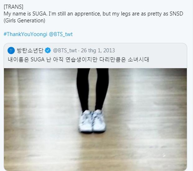 Bị idol nữ xa lánh, mỹ nam BTS tiết lộ lý do khiến ai cũng phải á ố: Mình là Suga và chân mình đẹp như chân của SNSD - Ảnh 4.