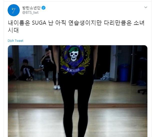 Bị idol nữ xa lánh, mỹ nam BTS tiết lộ lý do khiến ai cũng phải á ố: Mình là Suga và chân mình đẹp như chân của SNSD - Ảnh 3.